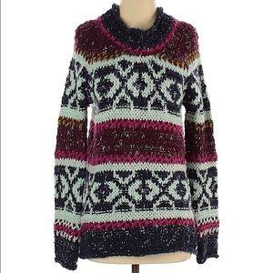 Free People Long Sleeve Tribal Print Sweater Small